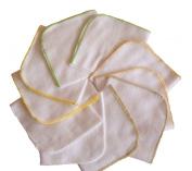10 x Super Soft Flannel Wipes - Washing cloths 25/25 - UNISEX