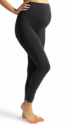 Full Length Heavy Cotton Over Bump BLACK Maternity Leggings 10-12-14-16
