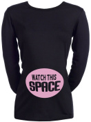 Spoilt Rotten - Watch This Space - 100% Organic Cotton Women's Maternity Top