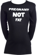 Spoilt Rotten - Pregnant NOT Fat - 100% Organic Cotton Womens Maternity Top
