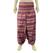 Smocked Aladdin Afghani Cotton Pant