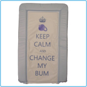 GENUINE ebabygoods Blue Keep Calm & Change My Bum Changing Mat - Soft Touch