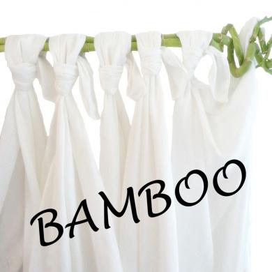 Babymajawelt 70 x 80cm Bamboo Muslins Nappies (White Pearl)