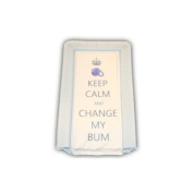 Keep Calm Changing Mat in Blue