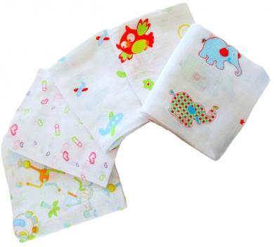 Babymajawelt 70/ 80 cm Muslin Squares Printed (Pack of 5)