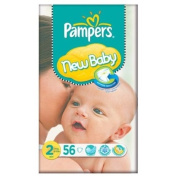 Pampers New Baby Size 2 (3-6kg) Essential Pack Mini 3x56 per pack