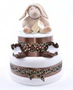 Leopard Print girls Baby shower nappy cake gift hamper cakes