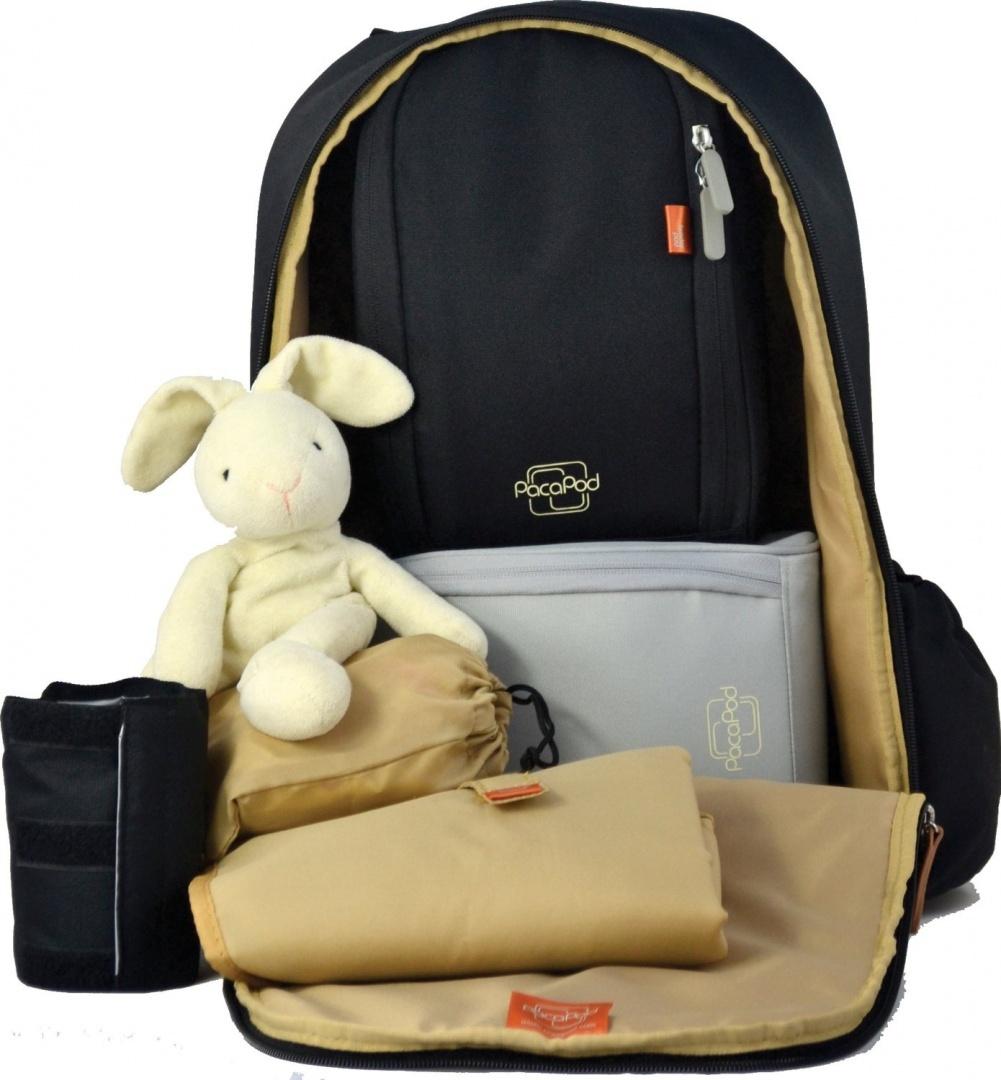 d051bc152ae6 PacaPod Picos Pack Black Designer Baby Changing Bag - Unisex Luxury ...
