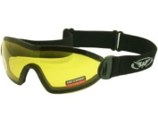 Yellow Tinted-Low Light Shatterproof Jockeys Riding Goggles For Point to Point, National Hunt, Flat Or Work Complete with Free Pouch