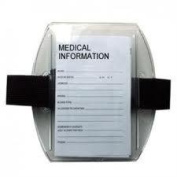 Medical Arm Band, Adjustable Elastic Armband, With Medical Card, White Only.