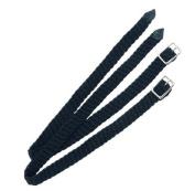 Plaited Nylon Spur Straps, 1.3cm , Black