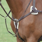 Shires five point breast plate pony size black