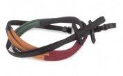 Windsor Equestrian Horses Multi Coloured Rubber Covered Reins 1.6cm
