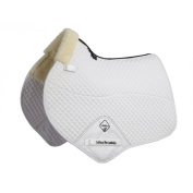 LeMieux Lambskin Close Contact Half Lined Jumping Square White