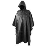 Tactical Hooded Waterproof Ripstop Poncho Basha Black