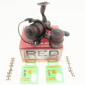 FTD - DRENNAN Red Range Feeder 6-40 Fixed Spool Fishing Reel includes Spare Spool - also comes with 6.1mD Barbless Hooks to Nylon