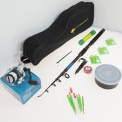 FTD Complete Fishing Set - Rod / Reel / Tackle / Bag - Ideal Travel Holiday Pack