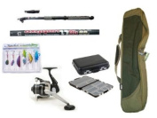 Carbon Telescopic Fishing Starter/Travel Set with Deluxe Holdall