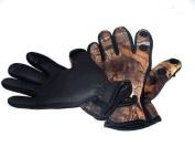 Neoprene Camo Fishing/Shooting Gloves