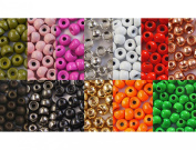 """25 x BRASS beads 2,4 mm 3/32"""" (0,04g) CHOICE OF colours for fly tying"""
