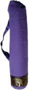 Silver cotton yoga mat bags - PURPLE