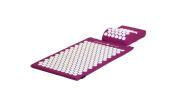 Acupressure Mat & Head Cushion Set - Purple
