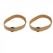 Khaki Hook Loop Closure Adjustable Yoga Mat Strap Band