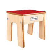 Little Helper Fstl01-2 Wooden Child Chair/ Stool with Funstool and Natural Edging