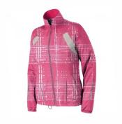 Brooks Women's Nightlife Essential II Running Jacket - Bright Pink Hatch, Small