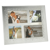 Wedding Mirror Glass Frame Starburst Crystals Design For Square Collage Pictures
