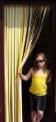 Slat type Door Curtain,Bug Blind,Fly Blind,Strip Blind-YELLOW & WHITE