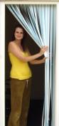 Tube Type Door Curtain,Bug Blind,Fly Blind,Strip Blind-SKY BLUE & WHITE