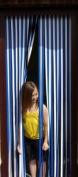 Tube Type Door Curtain,Bug Blind,Fly Blind,Strip Blind-BLUE & WHITE