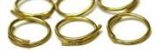 15mm dia Brass Split Rings. Pack of 50