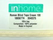 100m Rufflette Slotted Roman Blind Tape White