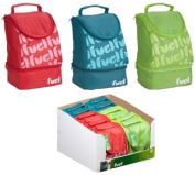 Trudeau 5050811 Lunch Bag 2 Compartments Polyester Red / Green / Blue