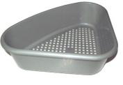 Grey Kitchen Plastic Corner Drainer Sink Tidy Holder Stand