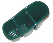 Green Cutlery Drainer Sink Tidy Holder Stand
