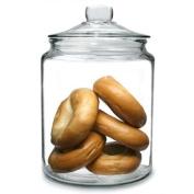 Utopia Biscotti Jar Extra Large 6.2ltr | Food Storage Jar, Glass Jar, Push Top Jar