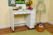 Sewing Machine Cabinet - Shirley White
