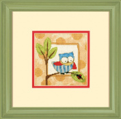 Curious Owl Mini Needlepoint Kit-13cm x 13cm Stitched In Thread