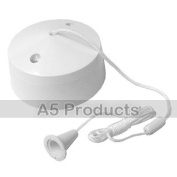 Bathroom Pull Cord Ceiling Switch 6 Amp White
