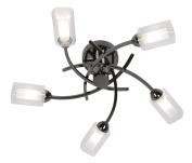 Oaks Lighting 5 Light Ofira Ceiling Fitting, Mirror Black
