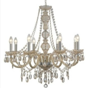 Marco Tielle 8 Arm Light Marie Therese Chandelier in Mink Colour
