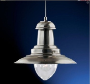 Fisherman Ceiling Lantern Light in Satin Silver Lamp