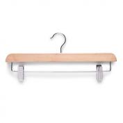 Zeller 17139 Skirt / Trouser Hanger 36 x 1.2 x 14 cm Wood with Metal Clips Natural