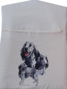 English Setter Large Cream Peg Bag with Wooden Hanger