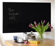 Self-adhesive Blackboard Wall Sticker total size 200 x 45cm plus 5 chalks