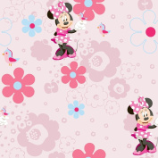 Minnie Mouse Spring Walk Wallpaper 10m