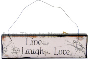 Chic Shabby Live Well Laugh Often Love Much Wooden Vintage Wall Door Sign Plaque
